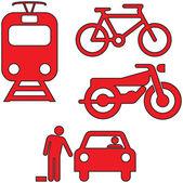 Conjunto de ícones vermelhos vinte e quatro — Vetorial Stock
