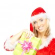 Santa with gift — Stock Photo #4033182