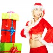 Santa with gifts — Stock Photo #4150390