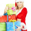 Santa with gifts — Stock Photo #4150469
