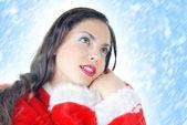 Santa y nieve — Foto de Stock