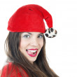 Happy female Santa — Stock Photo