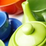 Teapot and teacups — Stock Photo #4508411