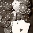 Old poker - Stock Photo