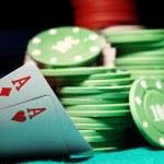 Постер, плакат: Poker cards and chips