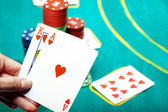Poker in casino — Stock Photo