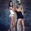 Two girls - Stockfoto