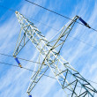 Pylon and transmission power line — Stockfoto