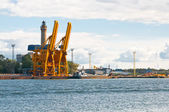 кран в порту — Стоковое фото