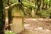 Velho judeu lápide no cemitério — Fotografia Stock