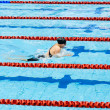 Stock Photo: Swimmer swimming in pool