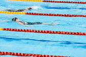 Swimmers swimming in a pool — Stock Photo