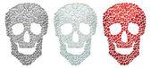 Skull from drops — Stock Vector