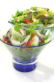 Chef salad with anchovies — Stock Photo