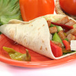 Wrap with turkey strips — Stock Photo