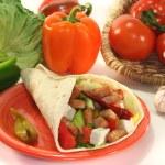 Wrap with turkey strips — Stock Photo #4375973