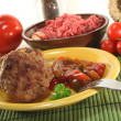 Meatball with Letscho - Stock Photo
