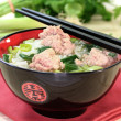 Rice soup with meat balls — Stock Photo #4941495