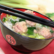 Rice soup with meat balls — Stock Photo #4941517