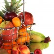 Fruit Mix in the Shopping basket — Stock Photo