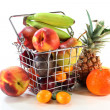 Fruit Mix in the Shopping basket - Stockfoto