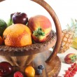 Fruit Mix in the basket - Stockfoto