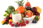 Fruit yogurt — Photo