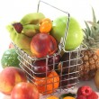 Stock Photo: Fruit Mix in the Shopping basket