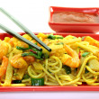 Stock Photo: Noodles with Asiprawns