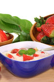 Strawberry yogurt — Fotografia Stock