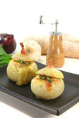Stuffed onions with goat cheese — Stock Photo