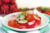 Radish and tomato salad — Stock Photo