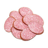 Heap of sliced sausage — Stock Photo