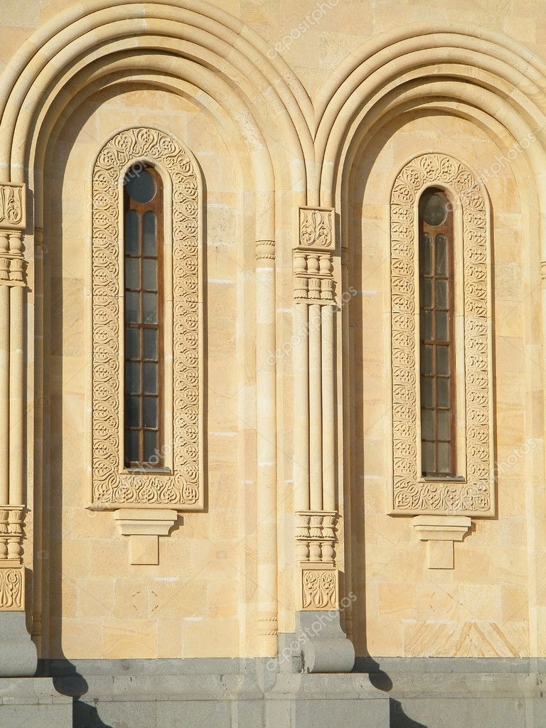 Sameba facade windows — Stock Photo #4847965