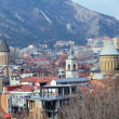 Stock Photo: Tbilisi old churche's domes