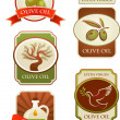 Royalty-Free Stock Vektorov obrzek: Olives labels collection isolated on white background.
