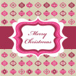 Royalty-Free Stock Vektorgrafik: Pink Christmas background with retro frame