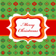 Christmas background with retro frame — Stock Vector