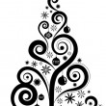 Graphic Christmas tree — Stock Vector