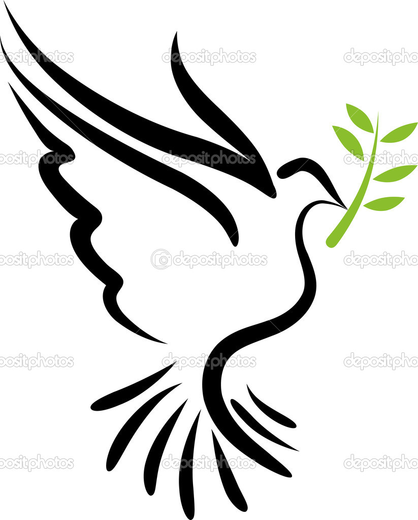 A free flying vector white dove symbol  — Image vectorielle #3954791