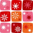 Christmas star Icons set — Imagen vectorial