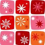 Christmas star Icons set — Stock Vector