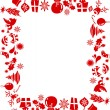 Stock Vector: Christmas elements frame