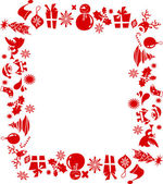 Christmas elements frame — Stock Vector