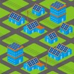 Solar houses pattern — Stock Vector