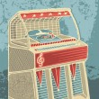Retro jukebox — Stock Vector