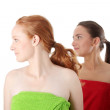 Spa - portrait of two woman — Stock Photo