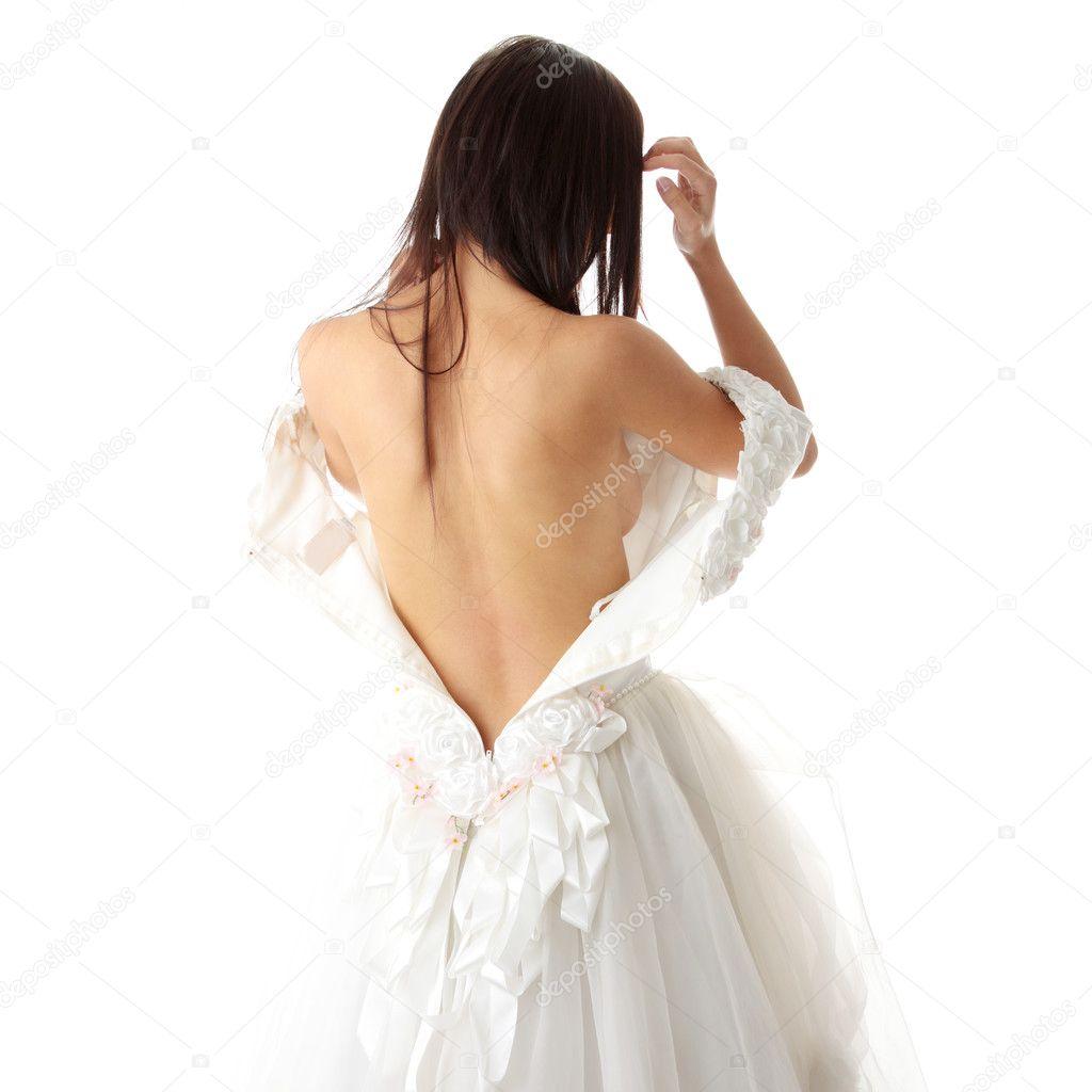 bride dress up