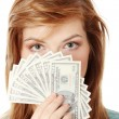 Teen woman with dollars. — Stock Photo #4832790