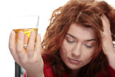 Alcohol addiction — Stock Photo